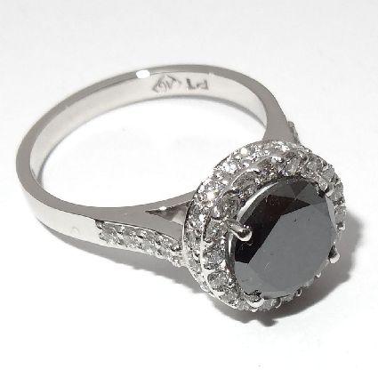 Platinum black & white diamonds