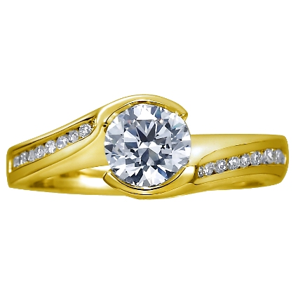 wedding rings, customized piece of jewellery, Round Brilliant Cut Yellow Gold