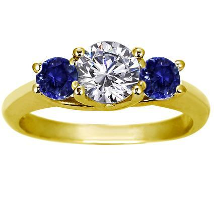 ENG040 Yellow Sapphire Engagement Ring