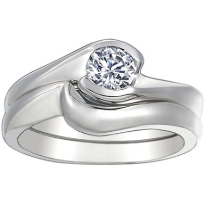 ENG025 White Wedding Ring