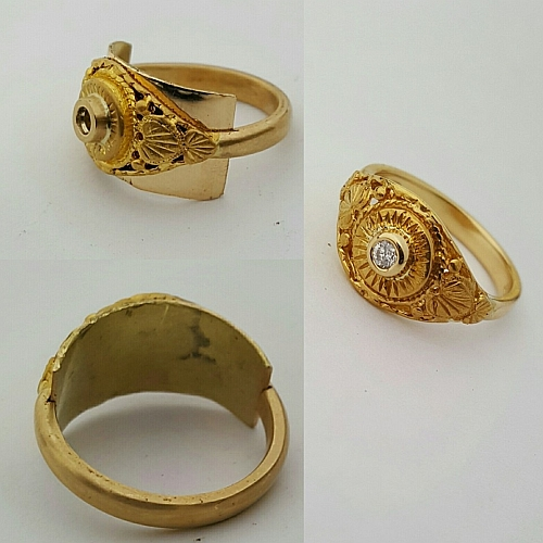 Remodelling|Restoration|Repair of Jewellery,Remodel Engagement Ring + 2 Wedders,Grandma's Ring Restoration