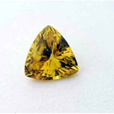 0.90ct Trilliant Cut Australian Yellow Sapphire,gemstones,Designer Jeweller Mackay + Poserpine QLD
