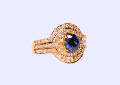 Australian Blue Sapphire and Diamond Engagement Ring,Designer Jewellers Proserpine, designer jeweller