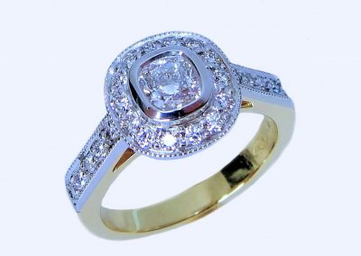 gold silver diamond ring, designer jewellers mackay, designer jeweller