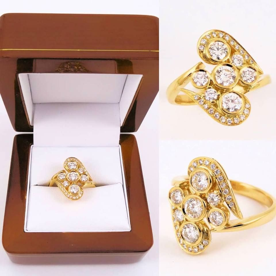Redesign customer gold diamond ring,designer jeweller mackay,designer jeweller